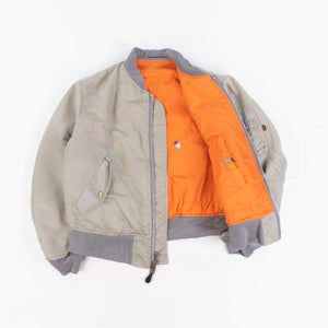 Vintage Alpha Industries MA-1 Bomber Jacket - Grey - American Madness
