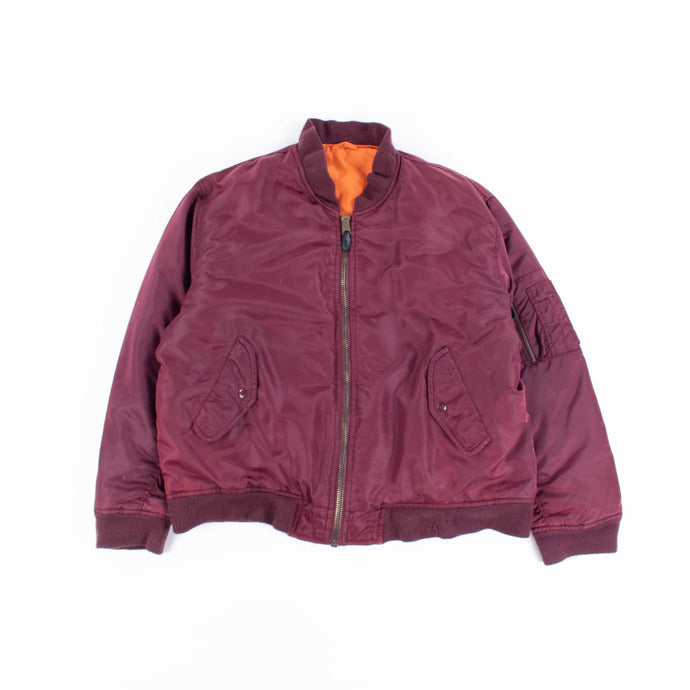 Vintage Alpha Industries MA-1 Bomber Jacket - Burgundy - American Madness