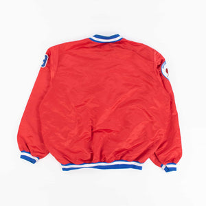 Vintage 1970's 'Redbirds' 1/4 Zip Baseball Jacket - XL - American Madness