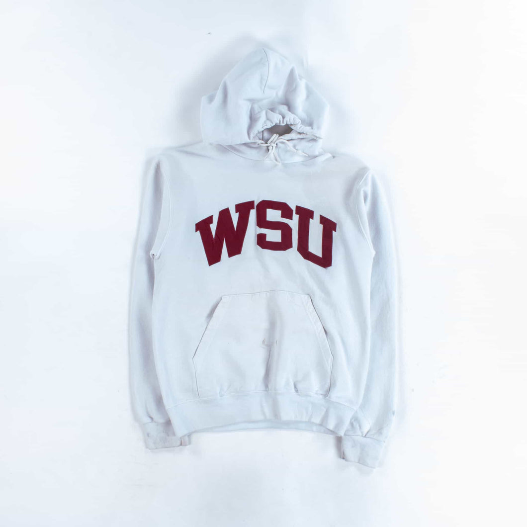 Vintage Champion 'WSU' College Hoodie - White - American Madness
