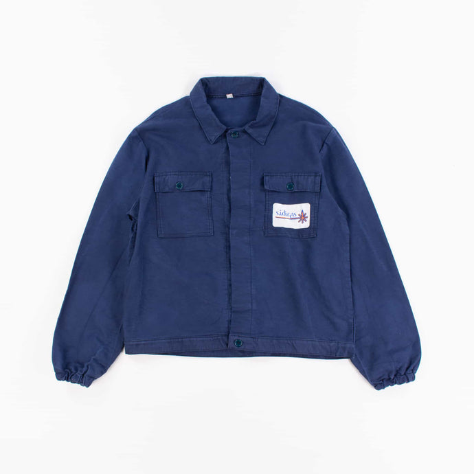 Vintage 1980's Blue French Work Chore Jacket / Shirt - American Madness