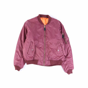 Vintage U.S Air Force MA-1 Bomber Jacket - Burgundy
