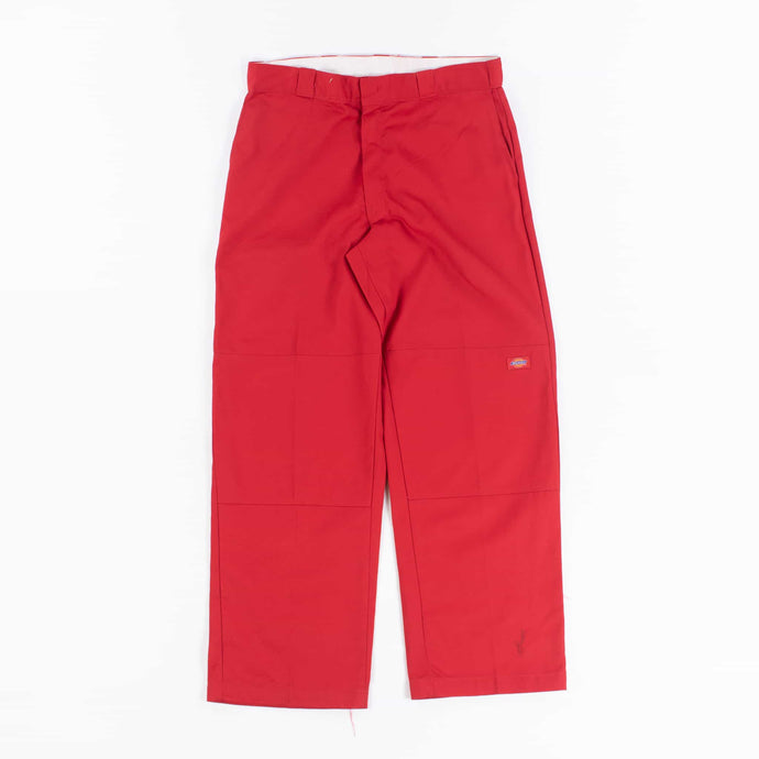 Dickies Double Knee Work Trousers - Red - American Madness