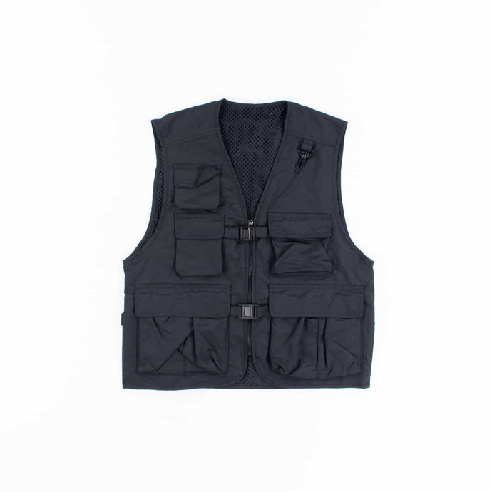 Vintage Tactical Fishing Vest - Black