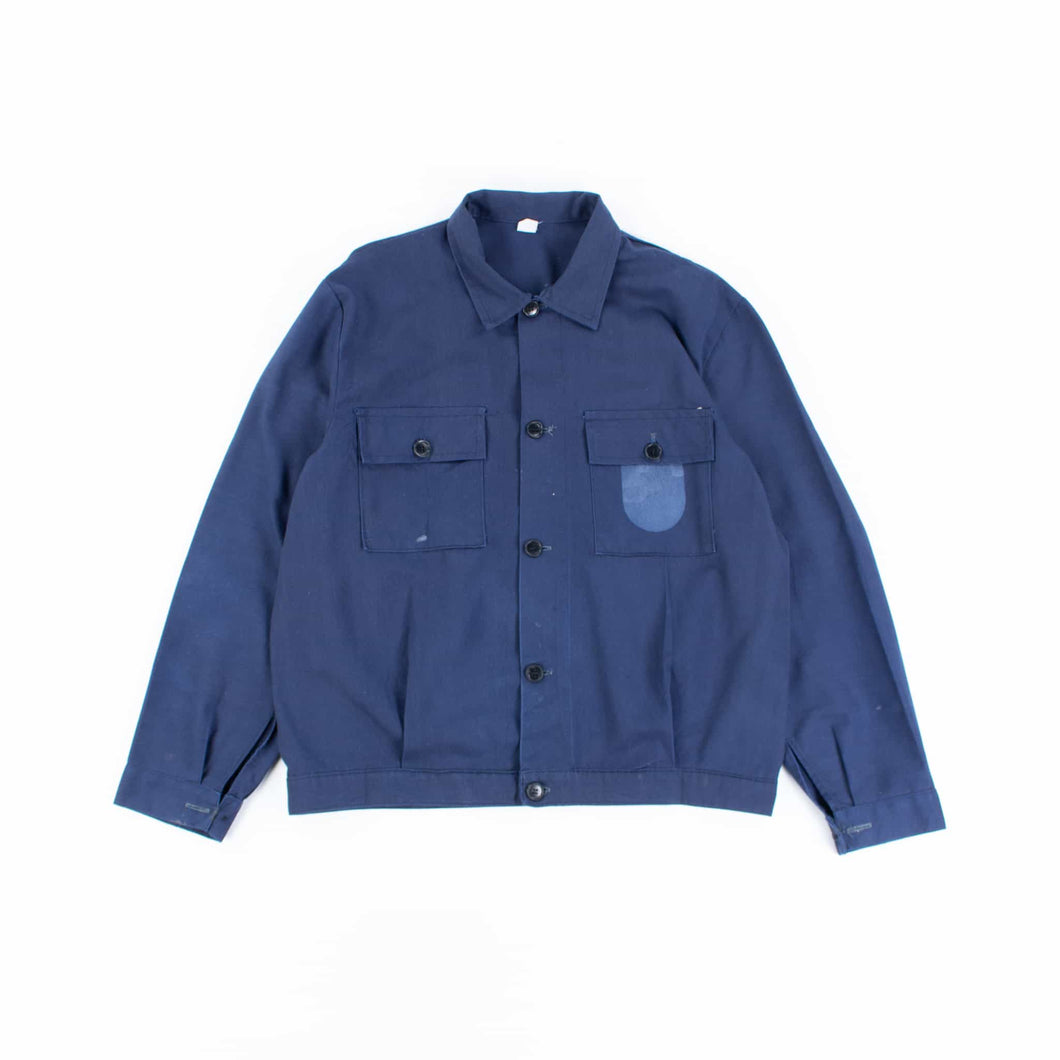Vintage 1980's Blue French Chore Jacket - American Madness