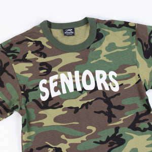Vintage U.S Army Woodland Camouflage PT Seniors T-Shirt - American Madness
