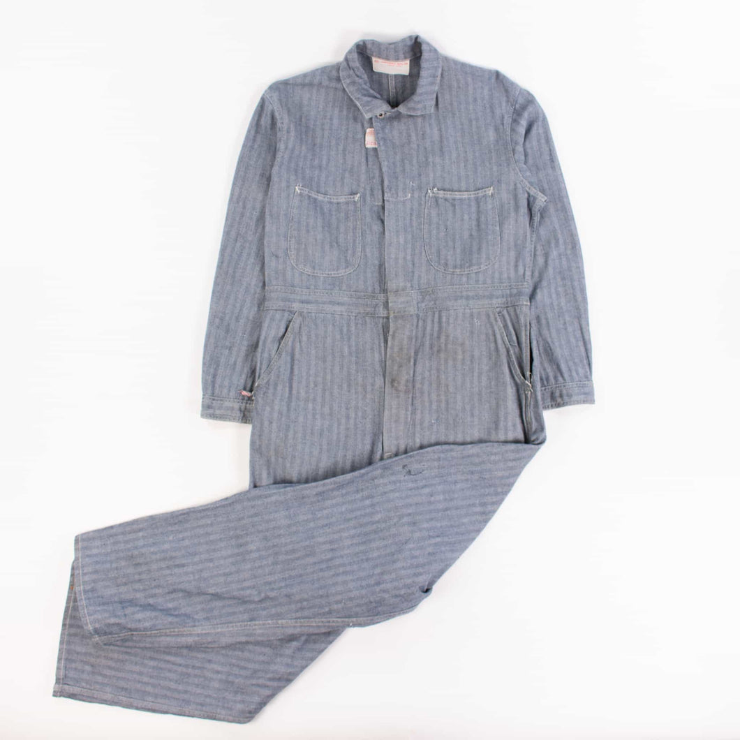 1940's Union Made Herringbone Mechanic Coveralls - American Madness