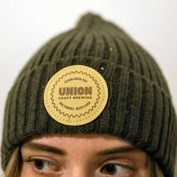 Logo Patch Knit Hat – Forest Green