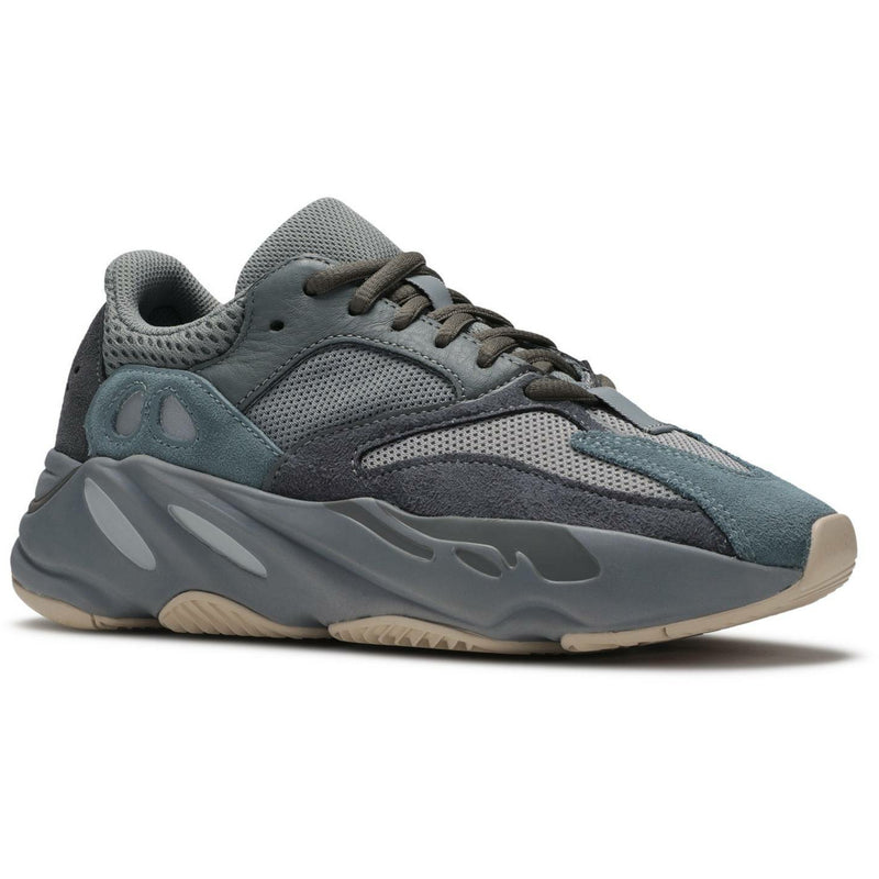 "Adidas-Yeezy Boost 700 ""Teal Blue""-Yeezy Boost 700 ""Utility Black Gum Bottom"" Sneakers