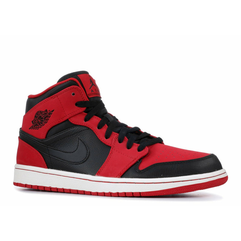 "Air Jordan-Air Jordan 1 Mid ""Bred""-Air Jordan 1 Mid ""Bred"" Sneakers