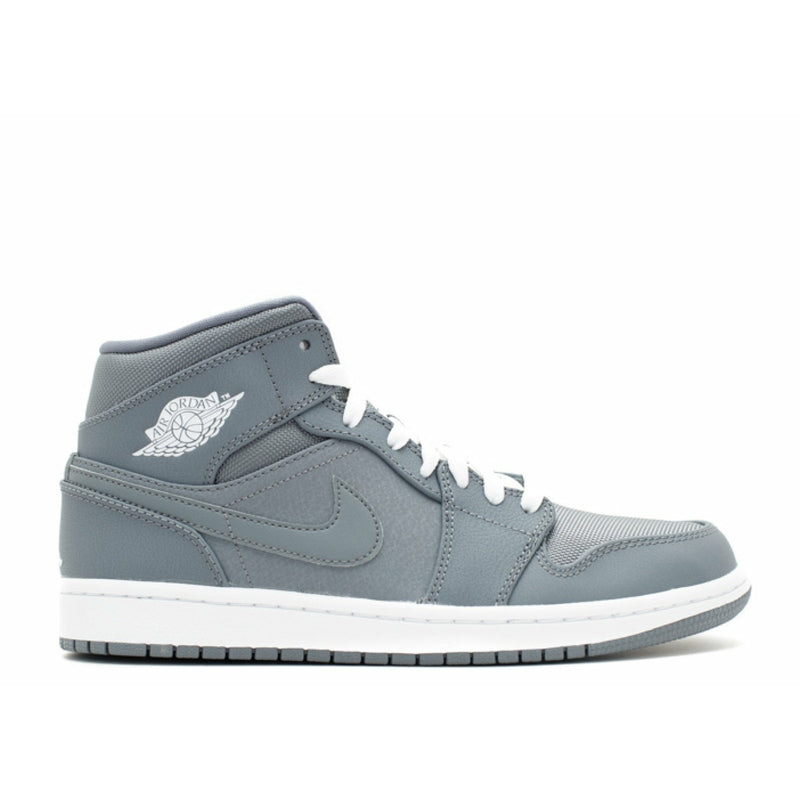 "Air Jordan-Air Jordan 1 Mid ""Grey""-554724-022-C12A-Air Jordan 1 Mid ""Grey"" Sneakers