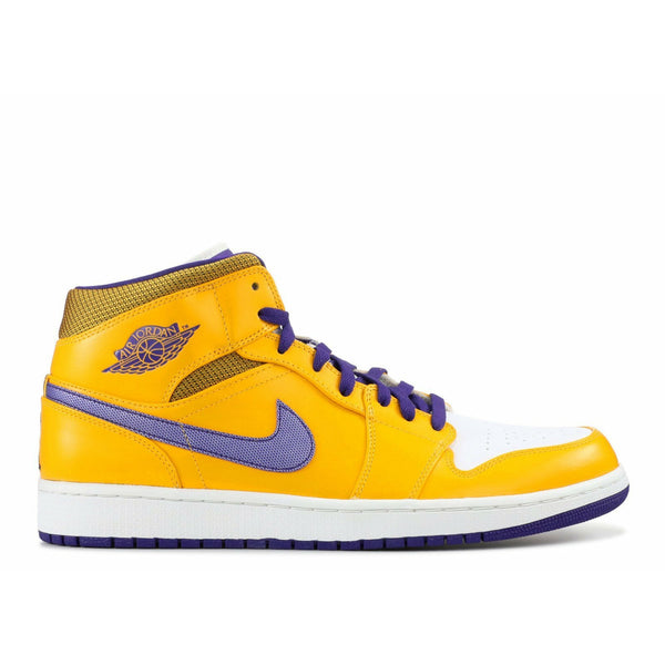 "Air Jordan-Air Jordan 1 Mid ""Lakers""-554724-708-7.5-C12A-Air Jordan 1 Mid ""Lakers"" Sneakers