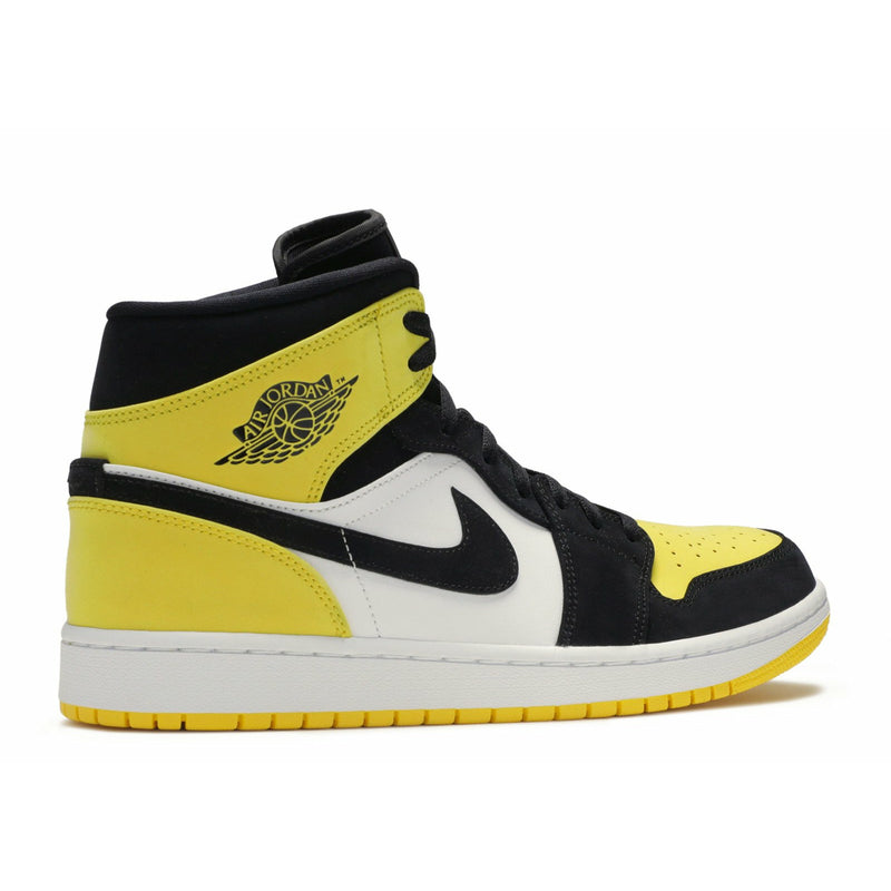 "Air Jordan-Air Jordan 1 Mid ""Yellow Toe""-Air Jordan 1 Mid ""Yellow Toe"" Sneakers
