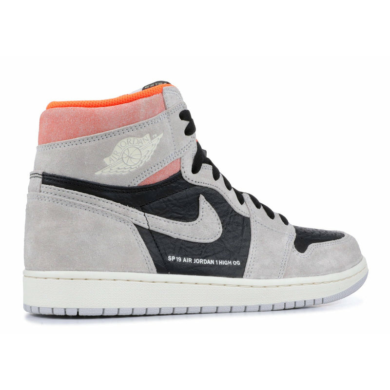 "Air Jordan-Air Jordan 1 Retro High OG ""Grey Crimson""-Air Jordan 1 Retro High OG ""Grey Crimson"" Sneakers