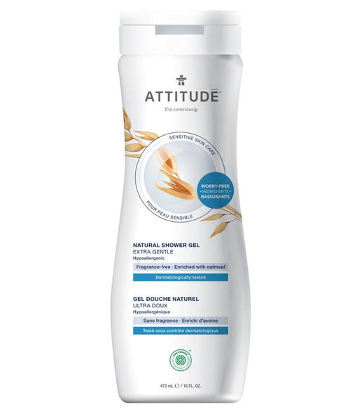 ATTITUDE - Natural Shower Gel - FRAGRANCE FREE