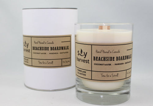 Soy Harvest - Timberflame Candle - Beachside Boardwalk
