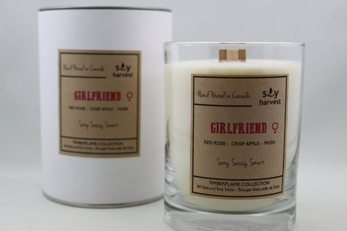 Soy Harvest - Timberflame Candle - Girlfriend