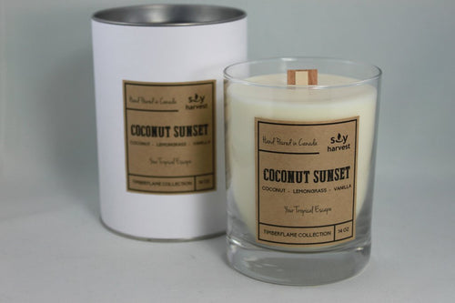 Soy Harvest - Timberflame Candle - Coconut Sunset