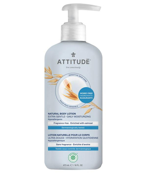 ATTITUDE - Natural Body Lotion FRAGRANCE FREE