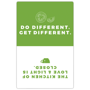Do Different. Get Different. Magnet