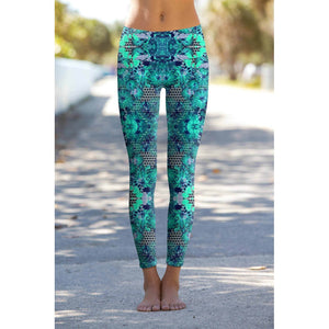 Awakening Lucy Printed Performance Yoga Leggings - Women