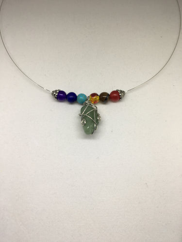 Handcrafted Chakra Silver Necklace with Barrel Clasp
