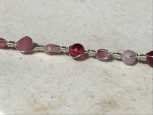 Handcrafted Glass Bead Bracelet