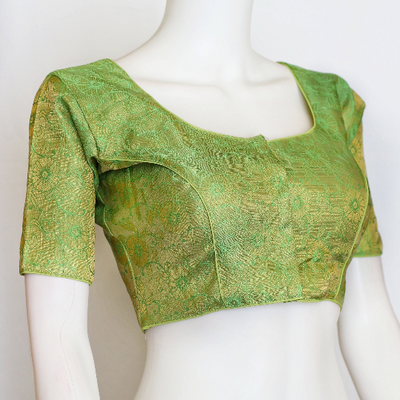 Brocade designer readymade blouse/ Silk saree blouse