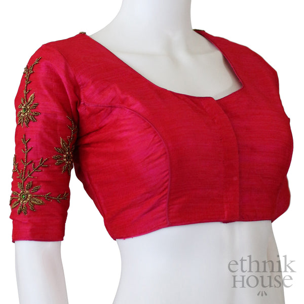 Readymade designer blouse with aari work