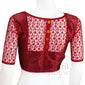 Designer readymade saree blouse with Net sleeves