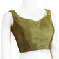 Silk readymade sleeveless blouse with tie back