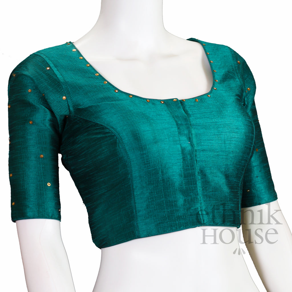 Silk blouse with stone work