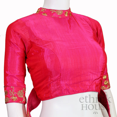 Silk Designer blouse with waist belt