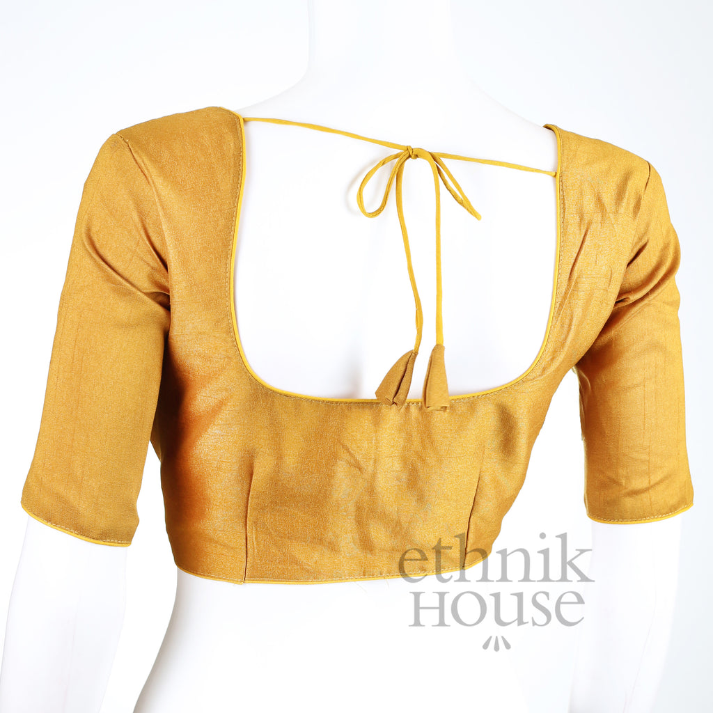 Plain semi silk blouse