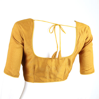 Silk solid blouse