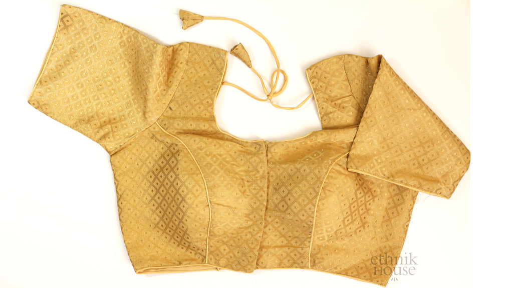 Gold Brocade blouse