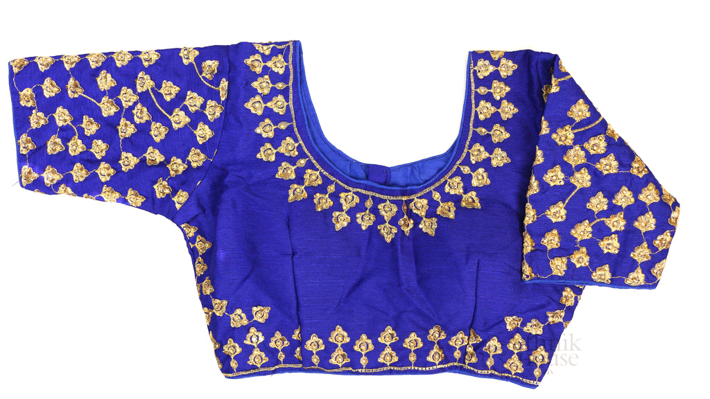 Embroidered silk bouse