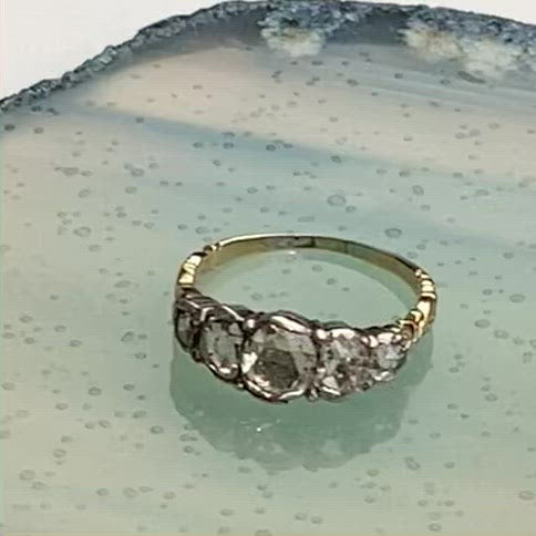 A Georgian Five Stone Diamond Ring