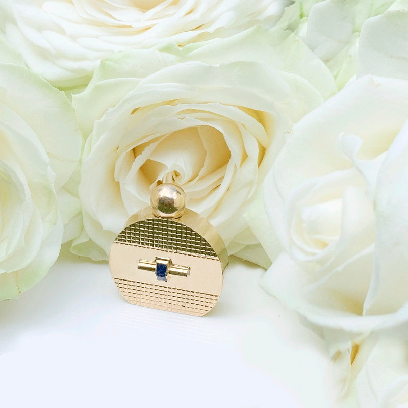18ct Gold & Sapphire Perfume Bottle
