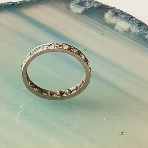 An Old Cut Diamond Gold Eternity Ring