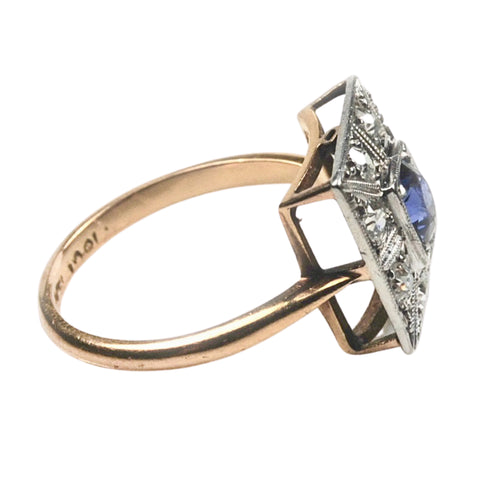 An Art Deco Sapphire & Diamond Ring