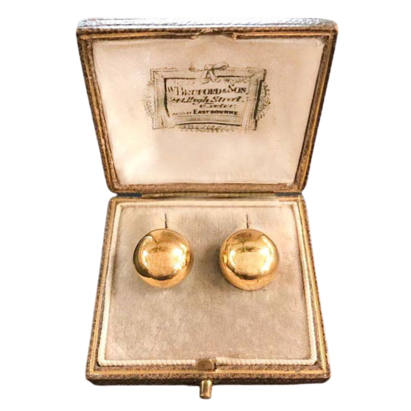 A pair of Gold Ball Earrings