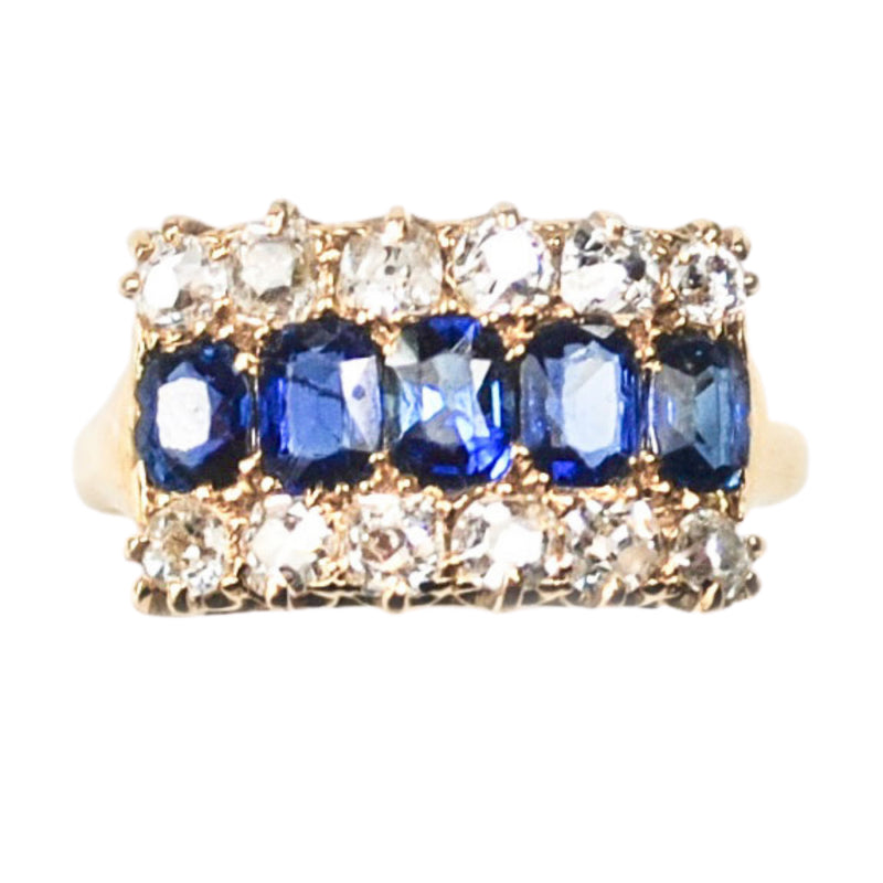 An antique Sapphire & Diamond Ring