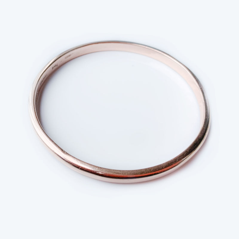 Modern 9ct Rose Gold bangle