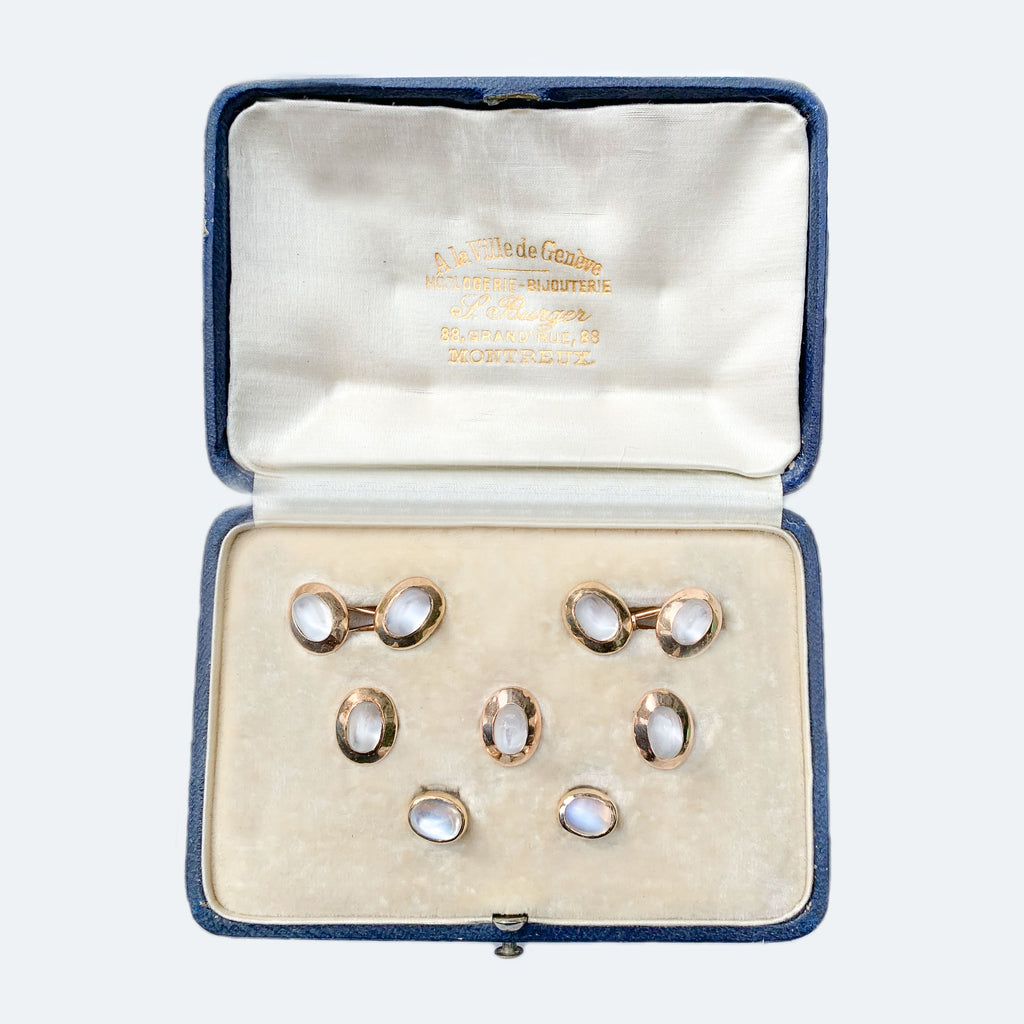 Swiss 18ct Gold  Moonstone dress set