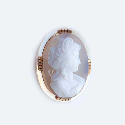 18ct gold hard stone cameo c.1870