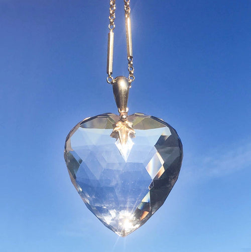 Victorian Rock Crystal Heart
