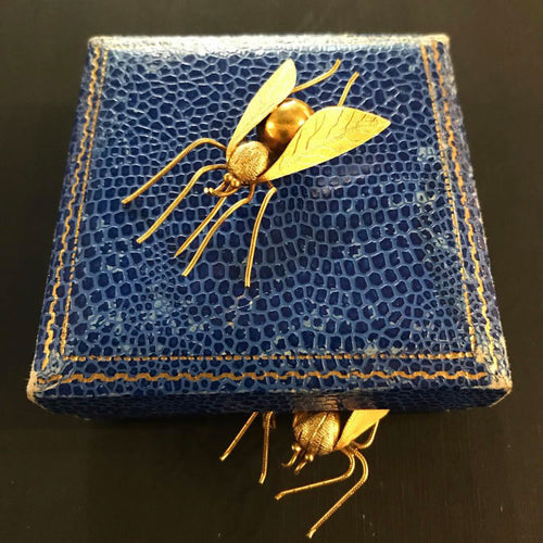 18ct gold late victorian Bug Brooch