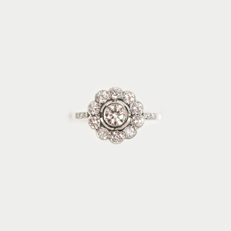 Edwardian Diamond ring with milgrain setting