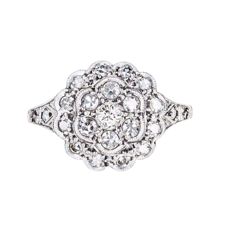 A 1900 Diamond Cluster Ring